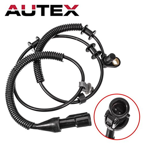 AUTEX 2PCS ABS Wheel Speed Sensor Front Left & Right ALS504 compatible with Ford F-150 2005-2008 4.2L 4.6L 5.4L 4WD/Lincoln Mark LT 2006-2008 5.4L 4WD