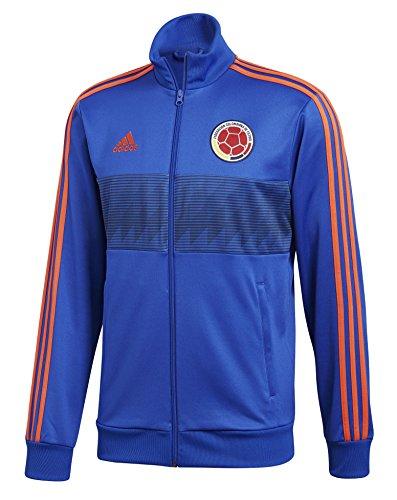 (adidas Adult Men Soccer 3 Stripes Track Top, Blue, X-Large)
