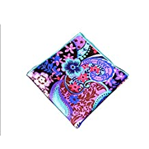 Sitong men's suits cotton color printed pocket square handkerchief(MKH-098)