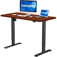 Flexispot Electric Standing Desk, 48 x 30 Inches Height Adjustable Desk Sit Stand Desk Base Home Office Table Stand up Desk (Black Frame + 48 in Mahogany Top)