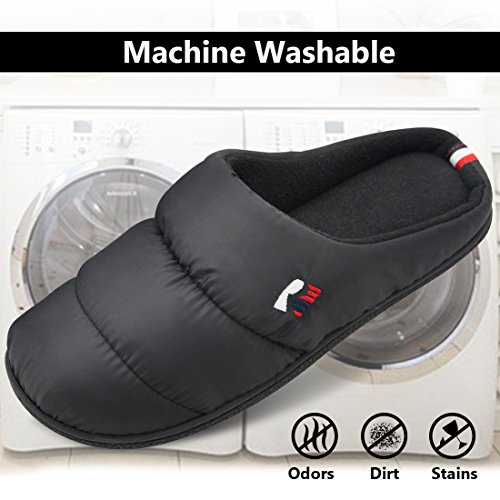 e790b4c9cd 70%OFF RockDove Men's Down Memory Foam Comfort Slippers Washable House Shoes