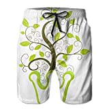 Green Vine Comfortable 2017 New Style Mans Short Pants