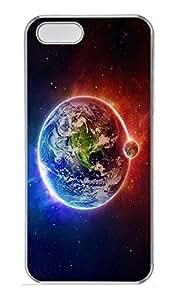 iPhone 5 5S Case Universe planet N001 PC Custom iPhone 5 5S Case Cover Transparent