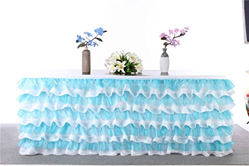 HBB Kids Handmade Deluxe Elegant Tulle Table Skirt For Party Decoration, Events, Meetings, Birthdays, Wedding, Baby Shower and Home Decro, 9F Long by …