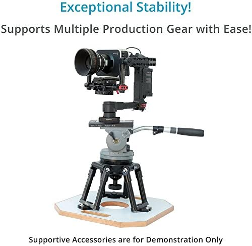 for Film Cinema Video Production Aluminum Camera Riser//Mini Tripod Stand Octagon Wood Board 15.5x15.5/"