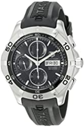 TAG Heuer Men's CAF2010.FT8011 Aquaracer Automatic Chronograph Rubber Strap Watch
