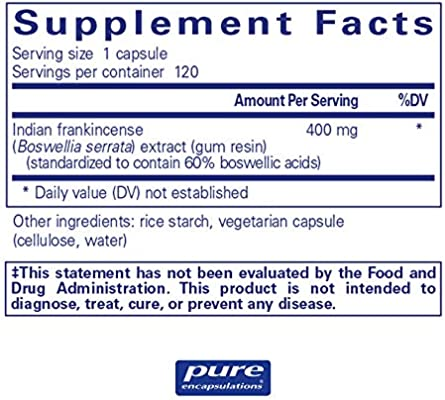 Pure Encapsulations - Boswellia - Herbal Support for Minor Joint Discomfort* - 120 Capsules