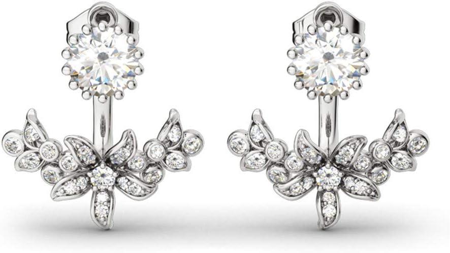 f/ür Frauen und M/ädchen Kleine Kreolen-Ohrringe aus 925er Sterlingsilber Schmuck-Geschenke mit Zirkonia 18 Karat vergoldet