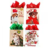 Medium ''Christmas Cuties'' Animal Pet Gift Bags by FLOMO