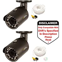 Q-See QCA8050B 1080p Analog BNC HD Bullet Security Camera - 2 Pack