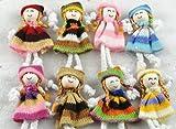20pcs Cute Pattern Dress Girl Small Doll Craft/appliques Diy Handicraft Lots (Mix)