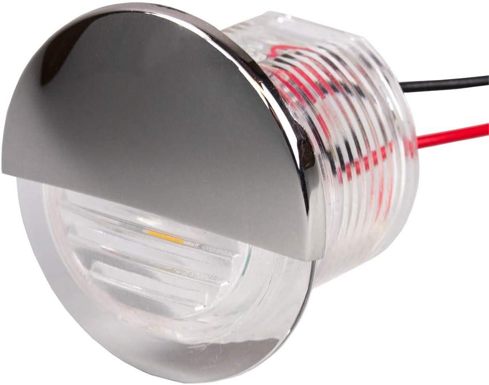Sea-Dog 401274-1 Flush-Mount LED Courtesy Light Blue Sea Dog 1-1//2 Round