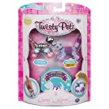 Twisty Petz - 3-Pack - Razzle Elephant, Cakepup Puppy and Surprise Collectible Bracelet Set for Kids