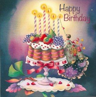 Nina Chen Frau Mit Geburtstagstorte Happy Birthday Amazon