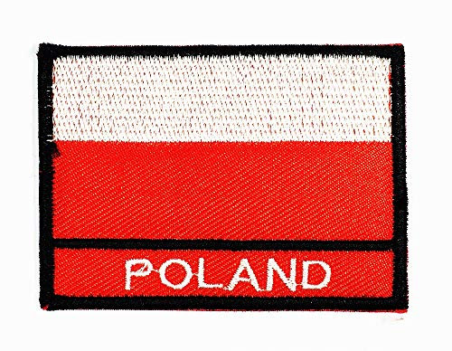 2 x 2.9 inches Poland Flag Countries