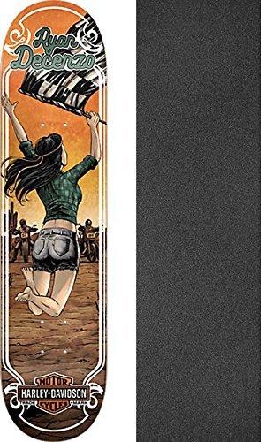 百導入する剣DarkstarスケートボードRyan Decenzo Harley Motorスケートボードデッキ樹脂7 – 8.25 X 31.8 CMでMob Grip Perforated Griptape – 2アイテムのバンドル