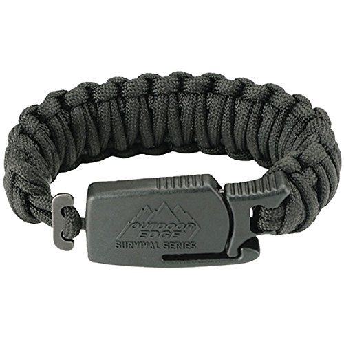 "Outdoor Edge ParaClaw - Tactical EDC Paracord Knife Bracelet with 1.5"" Hawkbill Blade"
