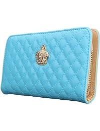 Women Clutch Wallet Elegant Crown Lady Long Purse Leather Wallet