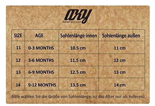 axy Baby Stoff Krabbelschuhe Babyschuhe 0 bis 12 Monate - Sunshine Boy - Modell 1