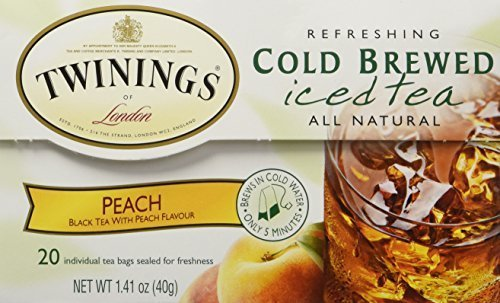 (Twinings Peach Cold Brewed Iced Tea, 20 Count Box (Pack of 2))