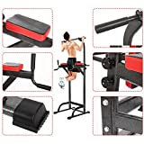 Hurbo Pull Up Stand Full Body Power Tower – Adjustable Chin Up Bar Power Tower for Home Gym