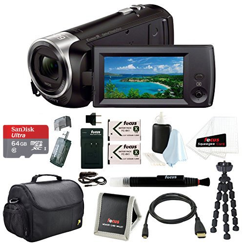 Sony HD Video Recording HDRCX405 Handycam Camcorder w/ Accessory Bundle
