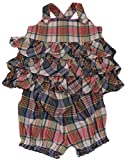 Polo_Ralph Lauren Baby Girls 2 Piece Multicoloured Frock Dress Set PM20 (18 Months, Multi)
