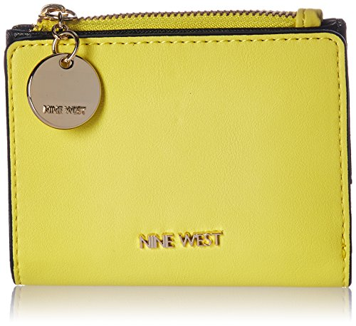 Nine West Slim Wallet with Zipper, Canary Yellow by Nine West