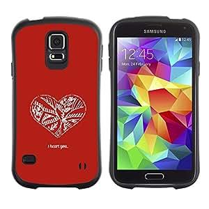 Suave TPU GEL Carcasa Funda Silicona Blando Estuche Caso de protección (para) Samsung Galaxy S5 / CECELL Phone case / / Red White Minimalist Quote Love Valentines /