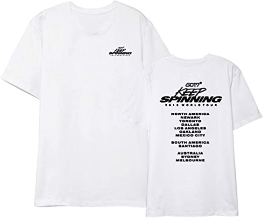 ZIGJOY JPY GOT7 Álbum Keep Spinning Top Camiseta 2019 World Tour ...