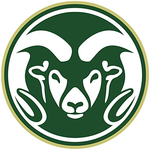 (Craftmag Vinyl Sticker Colorado State Rams NCAA Premium Quality Decal Computer Cut Cars Bumpers Laptops Phones Water Bottles Walls, 3