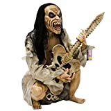 Halloween Haunters Life-Size Seated Zombie Man Guitar Bass Player Musician Rock Band Prop Decoration - Thick Rubber Latex
