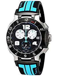 Tissot T-Race MotoGP Chronograph Black Dial Black and Blue Silicone Mens Watch T0484172720700