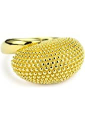 """Elizabeth and James """"Puck's Garden"""" 23k Gold-Plated Wasp Ring"""