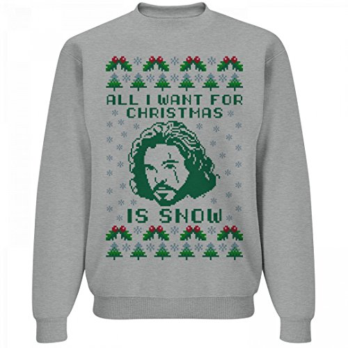 Jon Snow Christmas Ugly Sweater: Unisex Sweatshirt