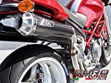 Ducati Monster S4R S4RS Testastretta Zard Exhaust Carbon Mufflers +2.5HP