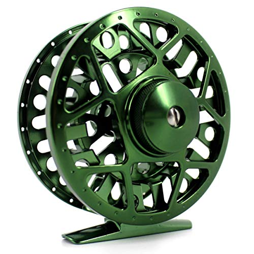 Saion Fly Fishing Reel CNC-Machined Aluminum Alloy 5/6 Disc Drag Right Left Handed 85mm Diameter -
