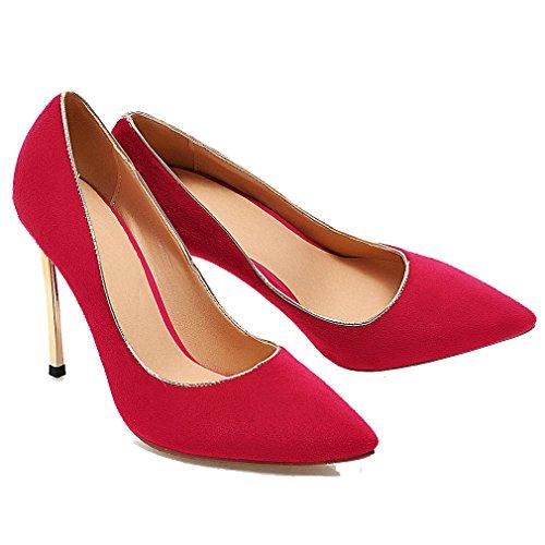 Shoes Pumps High Party Dress Dress Office Glitter Peach Heels Pumps Lady Women ENMAYER wqSPORS