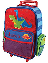 "2-Wheel Personalized Dinosaur Rolling Luggage Bag, 14.5"" x 18"""