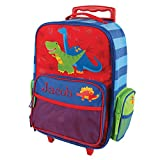Cheap Embroidered Dinosaur Rolling Luggage, 2 wheels, Multiple Pockets, 14.5″ x 18″