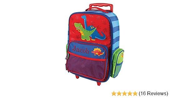 GiftsForYouNow 2-Wheel Personalized Dinosaur Rolling Luggage Bag 14.5 x 18