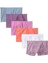 8cf39abbcb6a Women's 6 Pack Comfort Covered Waistband Boyshort Panties
