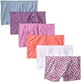 Fruit of the Loom Women's 6 Pack Comfort Covered Waistband Boyshort Panties, Assorted, 7