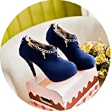 Best Minitoo Platform Heels - Plus Size 43 Flock Pumps Woman Round Toe Review