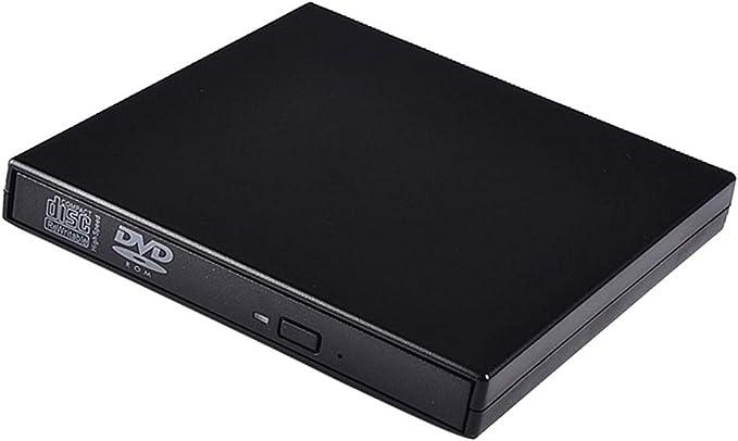 Gazechimp Lector De DVD Externo Delgado USB2.0 CD DVD RW ROM Unidad Grabadora Grabadora Lector Caja: Amazon.es: Electrónica