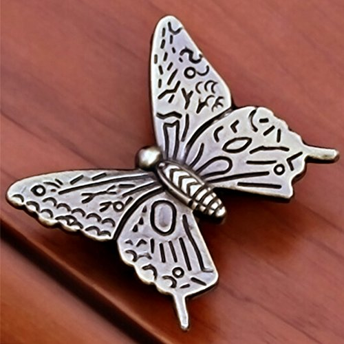 10 Pcs Butterfly Alloy Cabinet Knobs, 43mm Butterfly Shape Drawer Kitchen Cabinets Dresser Cupboard Wardrobe Pulls Handles (as Shown) by cyclamen9 (Image #5)