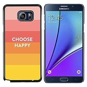Jordan Colourful Shop - Choice Happy Quote Positive Life Motivation For Samsung Note 5 N9200 N920 Personalizado negro cubierta de la caja de pl????stico