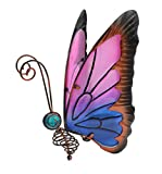 Home & Garden Metal Butterfly Solar Light (Pink/Blue)