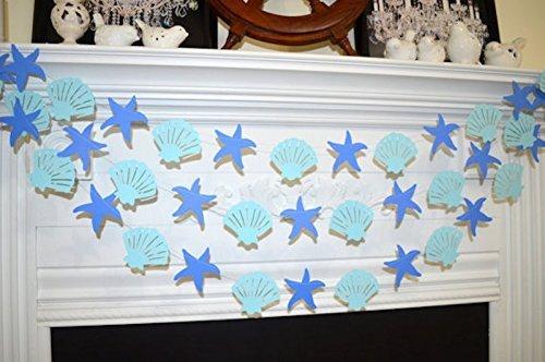 nautical birthday decor Seashell and starfish nautical wedding garland wedding garlands nautical shower baby shower starfish decorations