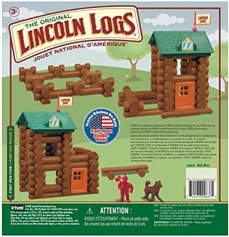 Lincoln Logs Fort Pino Rojo 83 Piezas: Amazon.es: Juguetes y juegos